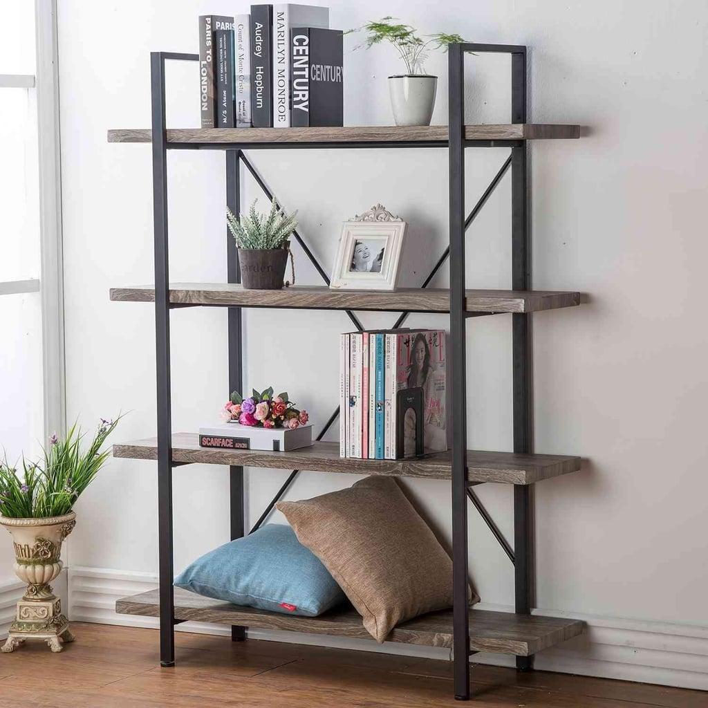 Hsh Furniture 4 Shelf Vintage Industrial Bookshelf Best