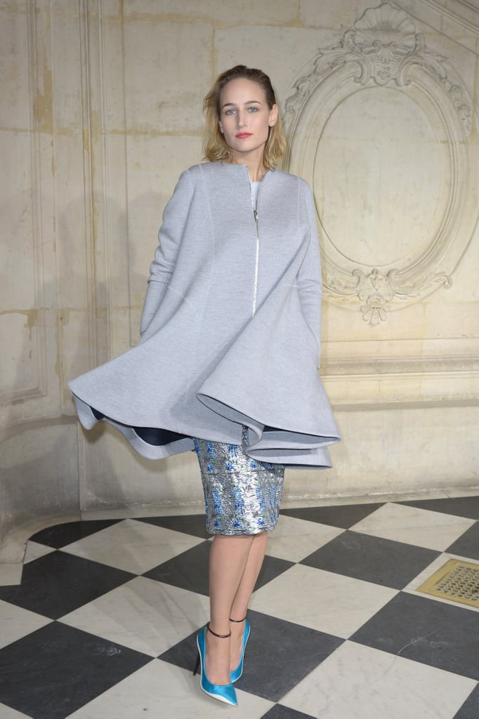 fe0c388e804b Leelee Sobieski in Dior at the Spring 2014 Couture Show