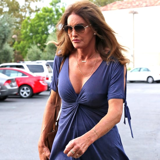 Caitlyn Jenner Wearing a Blue Dress