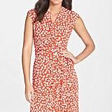 Eliza J Dot Print Jersey Wrap Dress ($118)