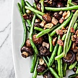 Garlic Bacon Sautéed Green Beans With Roasted Mushrooms