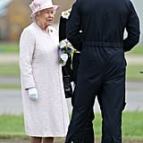 Prince William at Air Base With Queen Elizabeth II