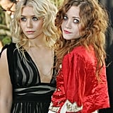 At the 2005 amfAR Gala, they both went with textured curls. However, Ashley stayed blond, while Mary-Kate was still flaunting reddish-tinged hair.