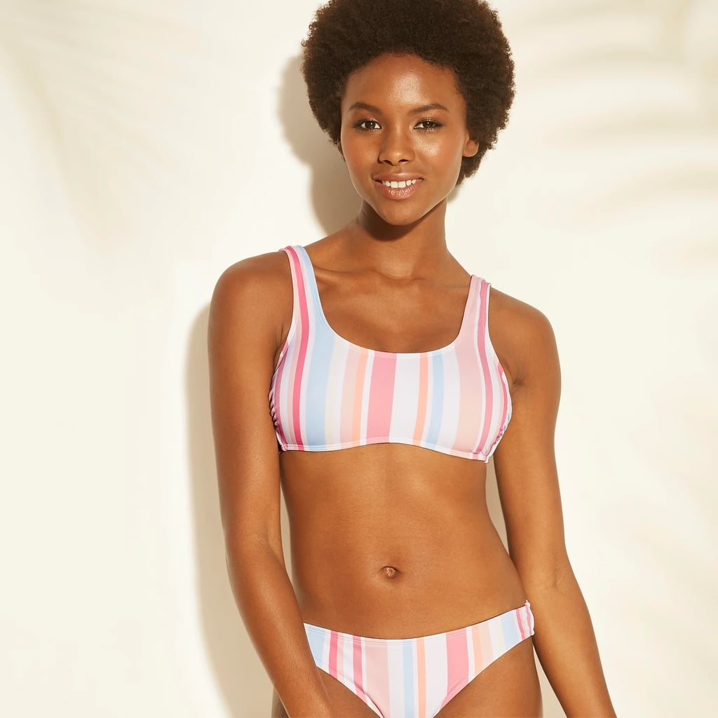 Scoop Neck Bralette Bikini Top and Bottom