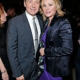 Kevin Spacey met up with Kim Cattrall at the show's afterparty.