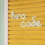 """""""Bro Code"""" in the Men's Dressing Room"""