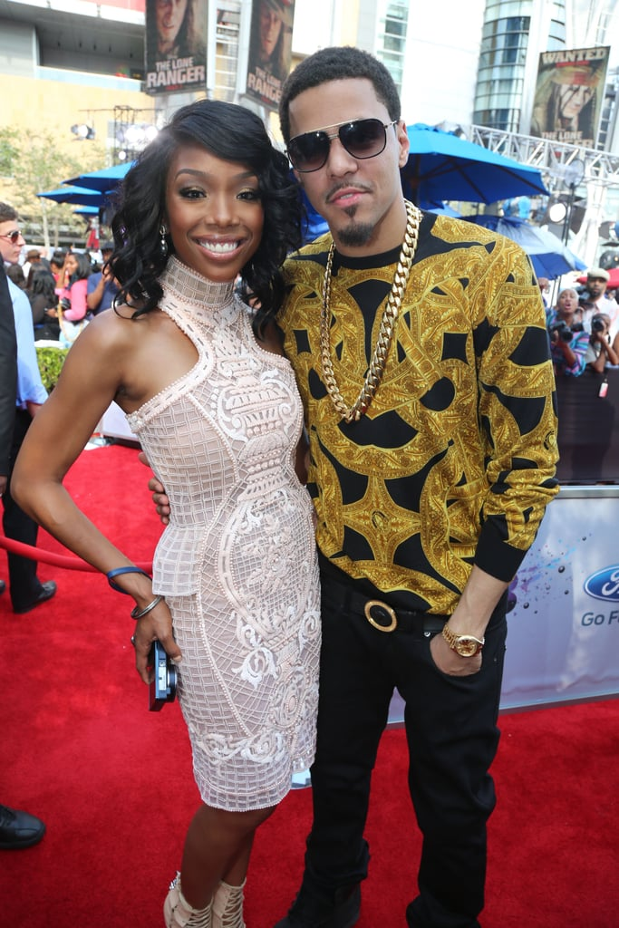 Brandy met up with J. Cole on the red carpet.