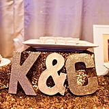 Make gilded initial centrepieces for your dessert table.