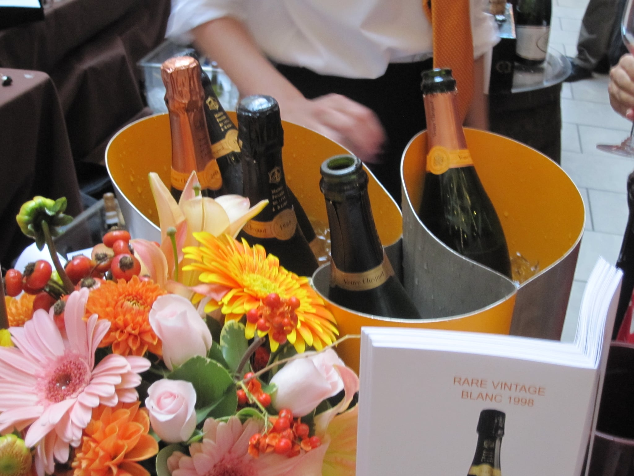 Two of Veuve Clicquot's wines were featured: the current release pink Rosé and the '98 vintage. Both were exceptional.