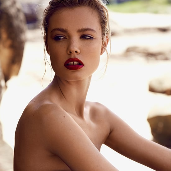 Summer Makeup Model Shoot With Red Lipstick