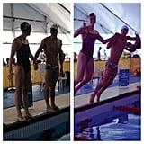 Michael Phelps and Allison Schmitt