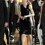 Queen Letizia Wearing Her Hugo Boss Dress in 2016