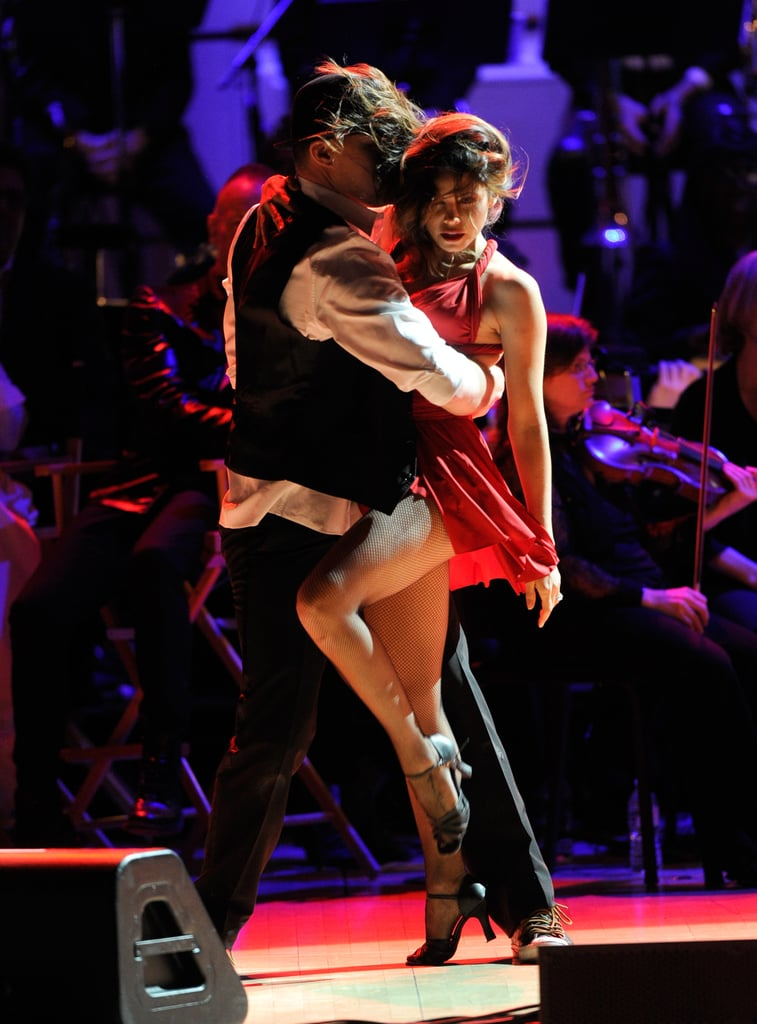 Channing Tatum gave wife Jenna Dewan a spin at the Revlon Concert for the Rainforest Fund at Carnegie Hall in NYC.