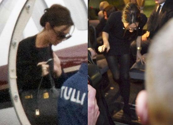 Photos of Victoria Beckham Arriving in Finland