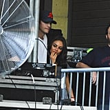 Ashton and Mila Put Their Love on Display at a Robin Thicke Concert
