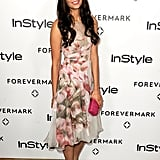 Nina Dobrev went floral for Forevermark and InStyle's Golden Globe event.
