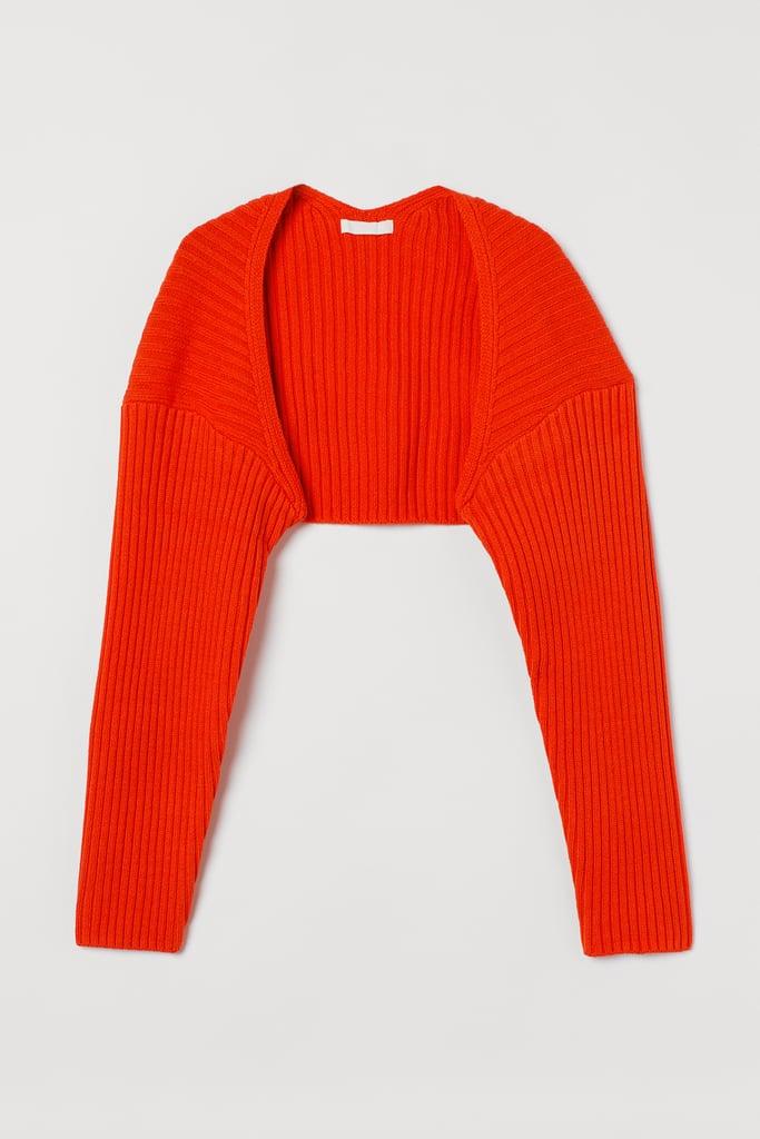 Rib-Knit Bolero Sweater