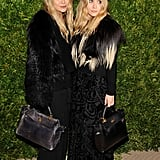 Ashley and Mary Kate Olsen wore co-ordinating ensembles.