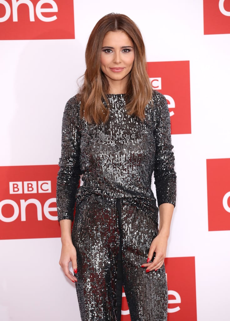 Cheryl's Silver Co-ord at The Greatest Dancer Photocall
