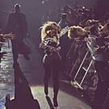 Beyoncé grabbed a weave from a fan midconcert, like a boss. Source: Instagram user beyonce