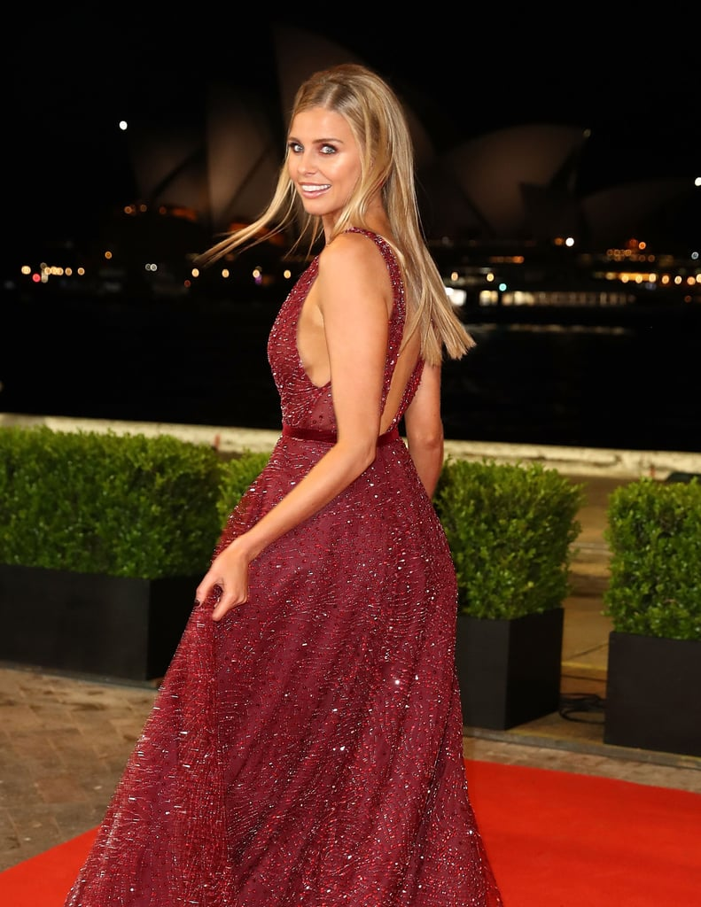 Tegan Martin Dally M Awards Red Carpet Dress 2018