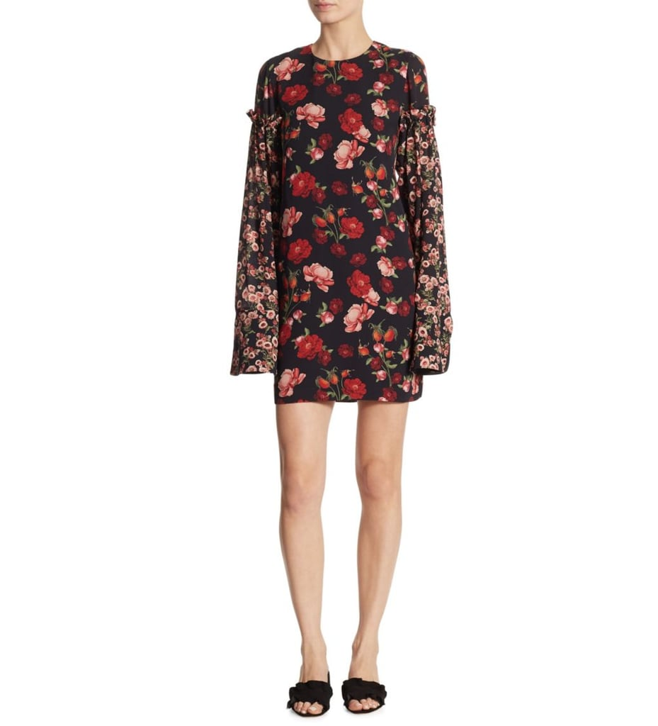 Mother of Pearl Francis Floral Bell Sleeve Dress