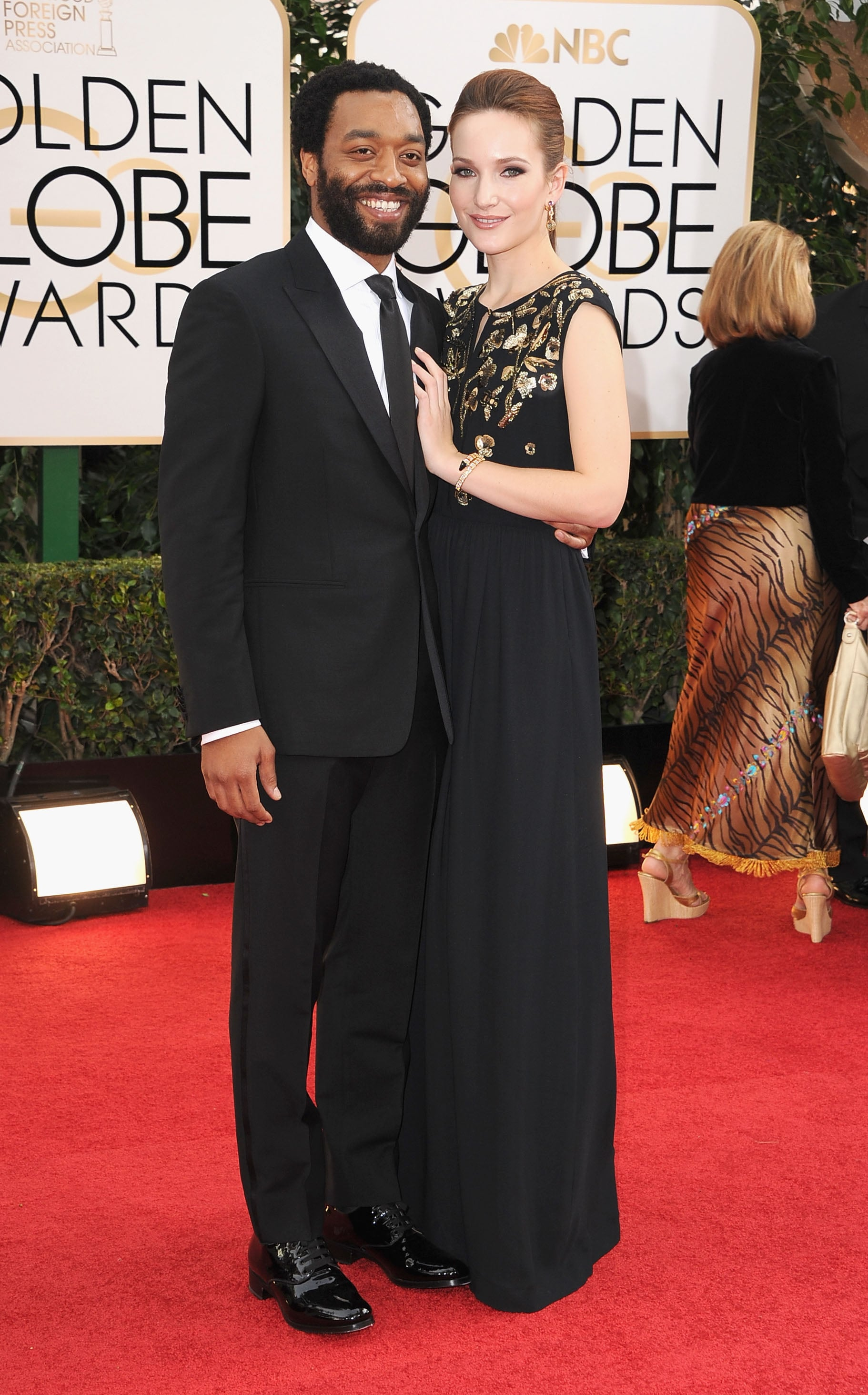 Chiwetel Ejiofor and his girlfriend, Sari Mercer, walked the red carpet together.