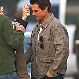 Photos of Cameron Diaz and Tom Cruise on Set in Boston 2009-10-12 14:41:57
