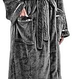Premium Fleece Robe with Satin Trim