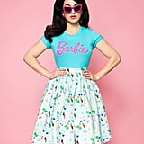 Barbie x Unique Vintage Blue 60th Anniversary Barbie Logo Women's Tee