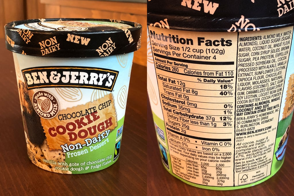 Ben & Jerry's Non-Dairy Chocolate Chip Cookie Dough Nutritional Info