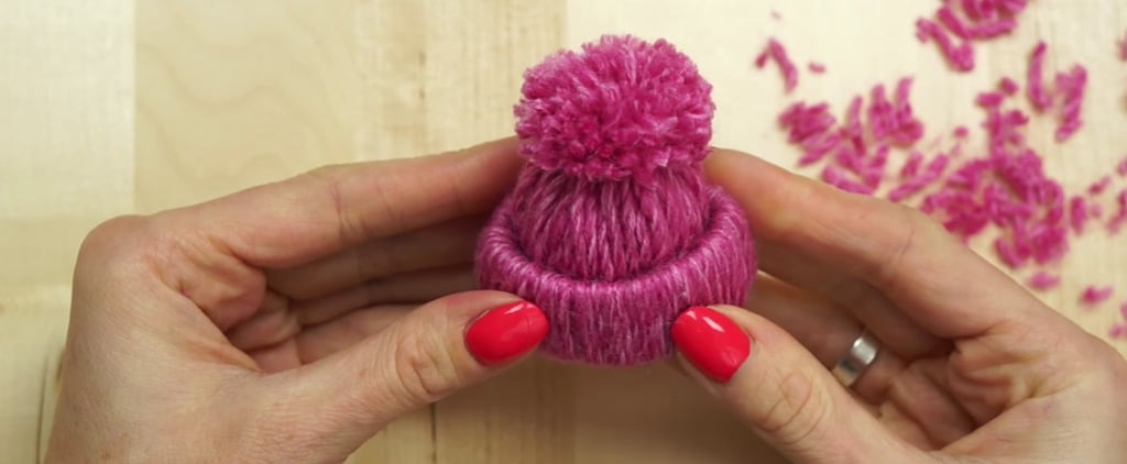 Learn How to Make Little Yarn Hat Ornaments That Don't Require Any Knitting