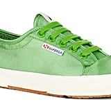 Superga Alexa Chung Satin Green Fern Sneakers ($145.45 approx.)