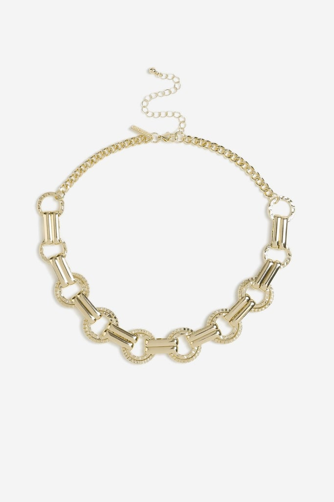 Topshop Beaten Link Collar