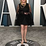 Martha Stewart Black Dress Vanity Fair Oscars Party 2020