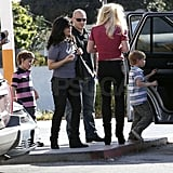 Lynne said bye to Britney and the boys.