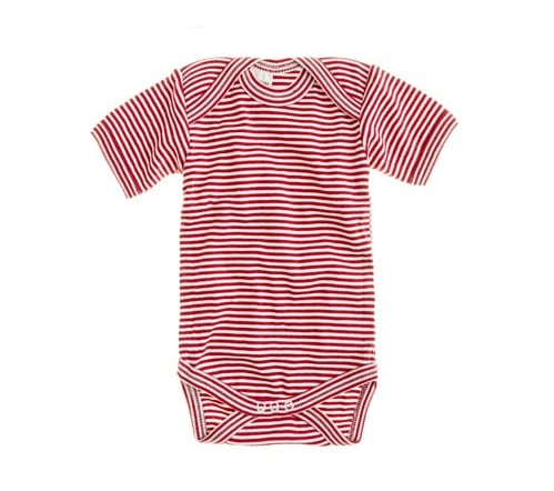 Nature Baby Short-Sleeve Cotton One-Piece