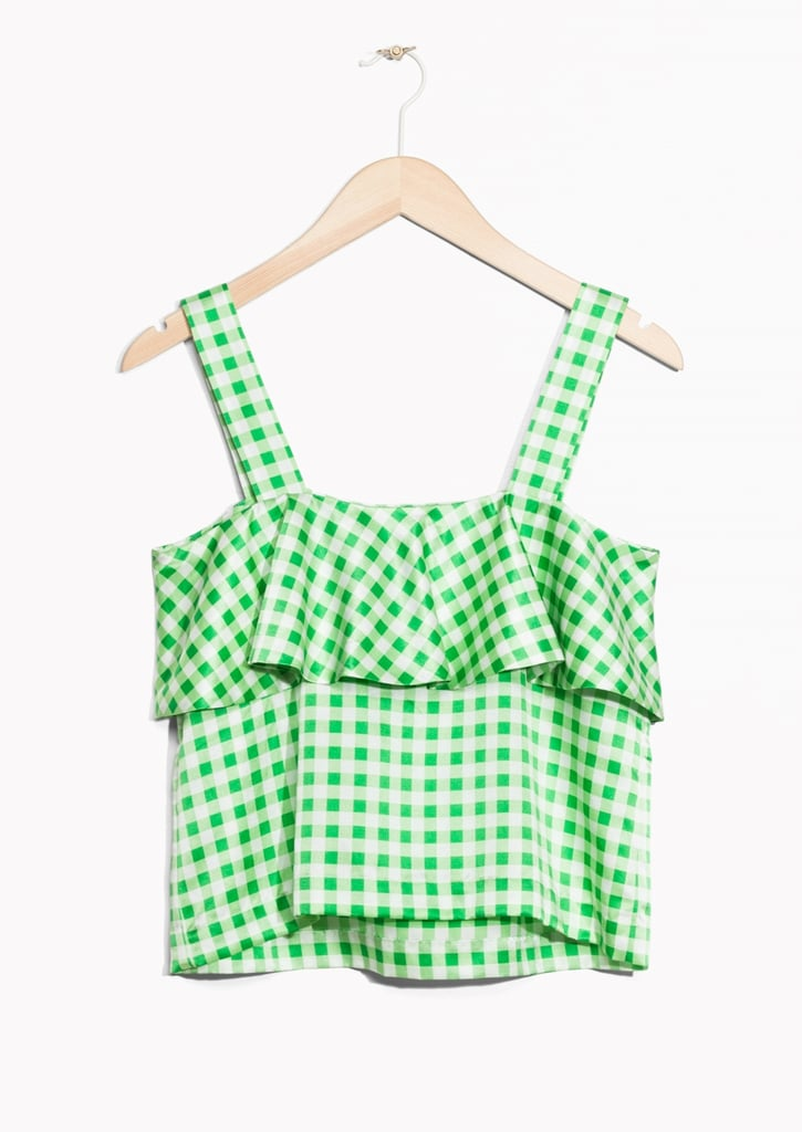 Other Stories Checked Frill Top (£45)