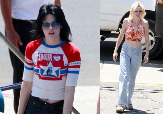 Photos of Kristen Stewart, Michael Shannon, Dakota Fanning Filming The Runaways in LA