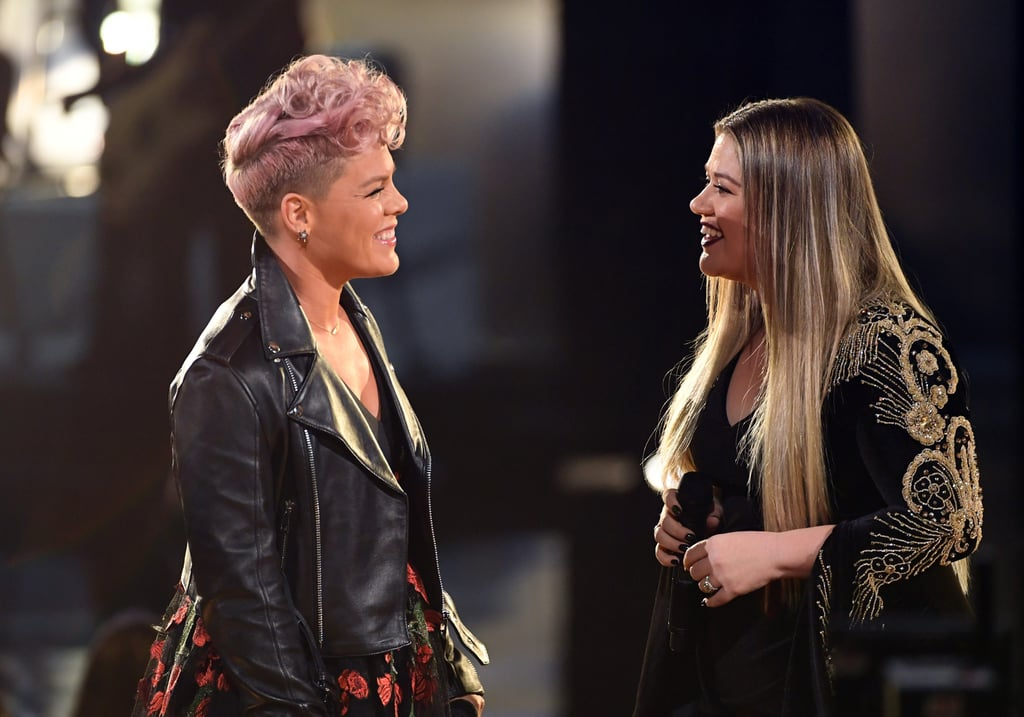 Pictured: Pink and Kelly Clarkson