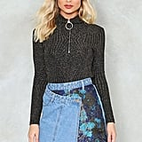 Nasty Gal Get Even Asymmetric Denim Skirt