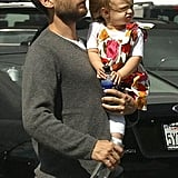 Spidey Tobey Maguire took daughter Ruby to Kitson for some shopping on Robertson Blvd.