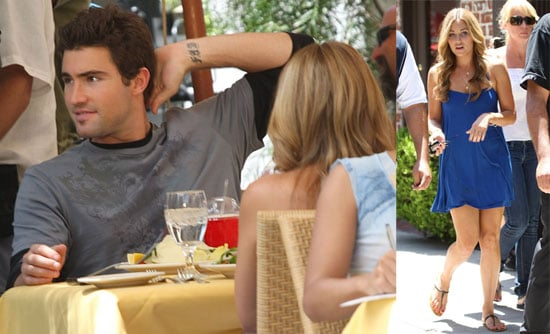Images of Lauren Conrad and Brody Jenner at lunch