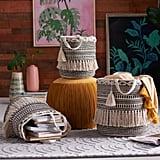 Hand Woven Macrame 3 Piece Basket Set