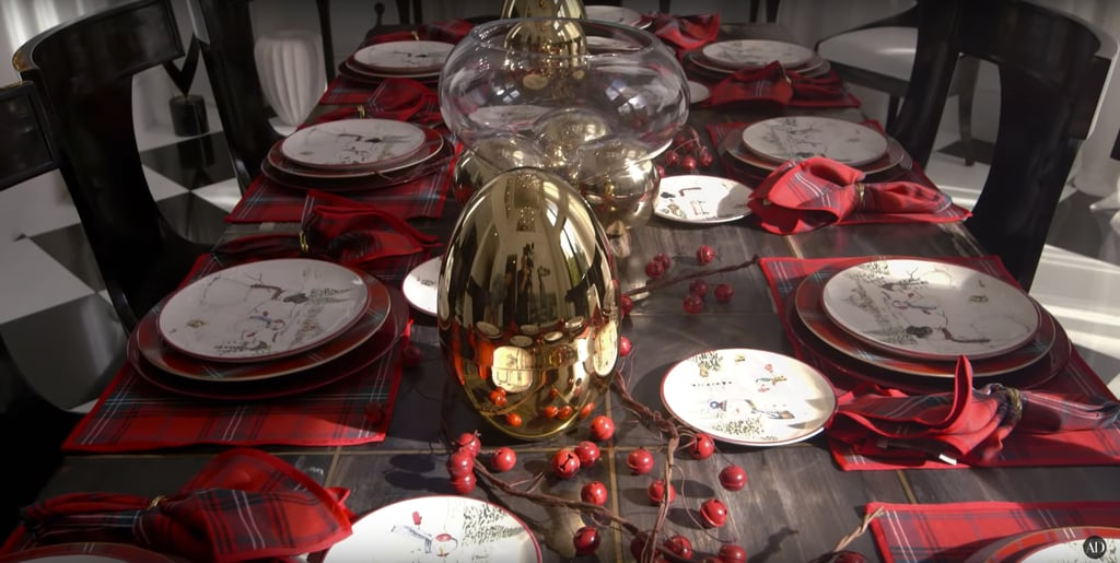 Kris added her signature glamour in 2016 by displaying Christofle golden eggs that each contained an entire set of silverware.