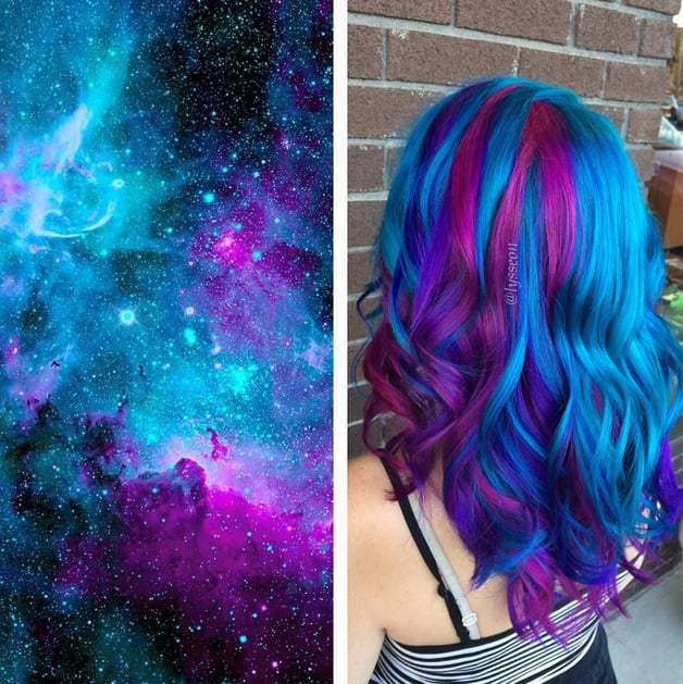 galaxy hair color ideas popsugar beauty photo 7