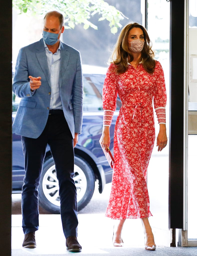Kate Middleton's Red Dress at Muslim Centre and Beigel Bake