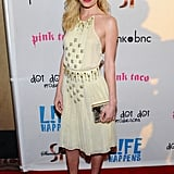 Kate Bosworth looked stunning in a studded pale yellow dress at the premiere of Life Happens.