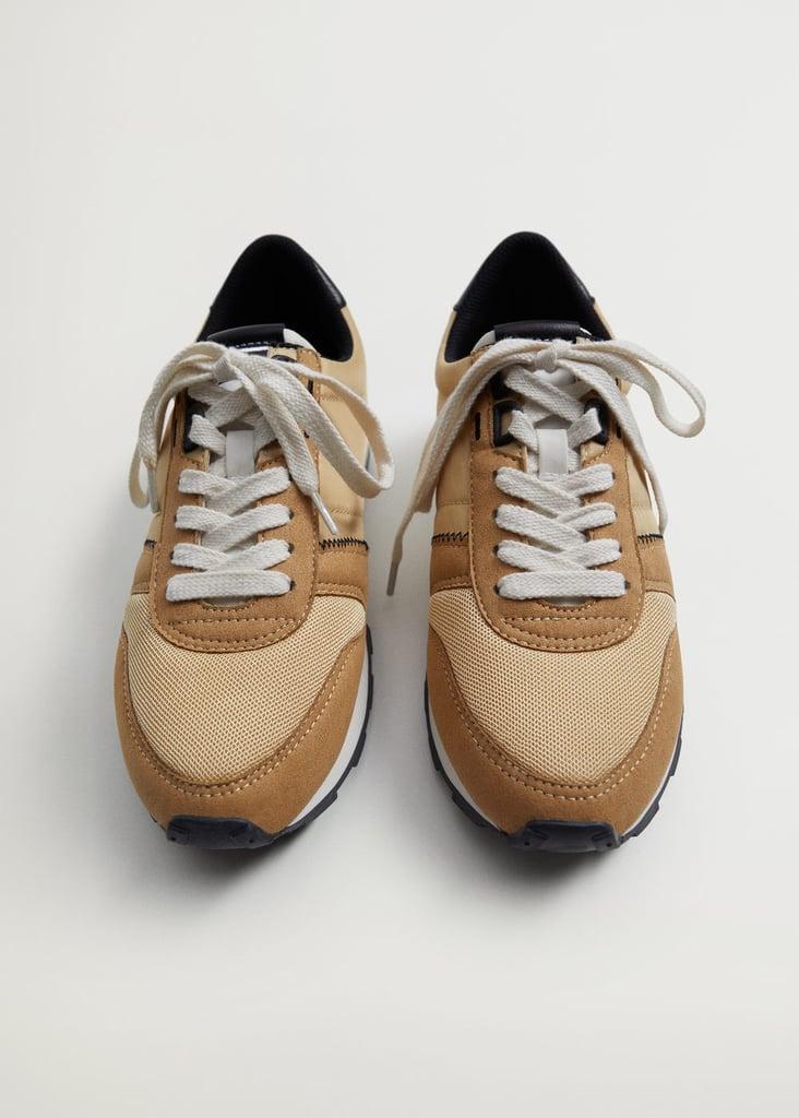 Mango Platform Lace-Up Sneakers