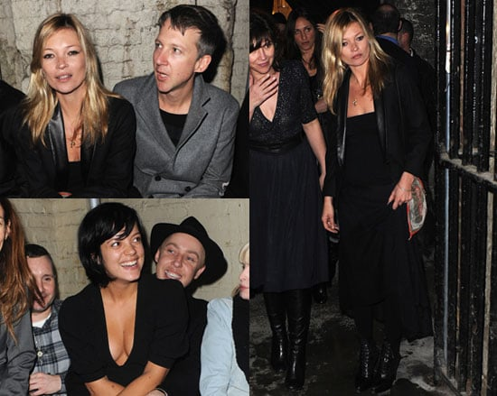 Photos of Kate Moss and Lily Allen at London Fashion Week